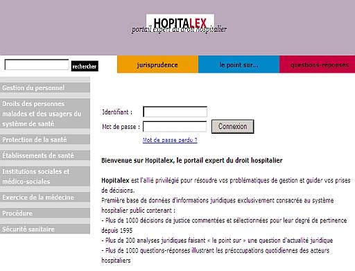 hopitalex une plateforme en ligne de droit hospitalier un blog pour l 39 information juridique. Black Bedroom Furniture Sets. Home Design Ideas